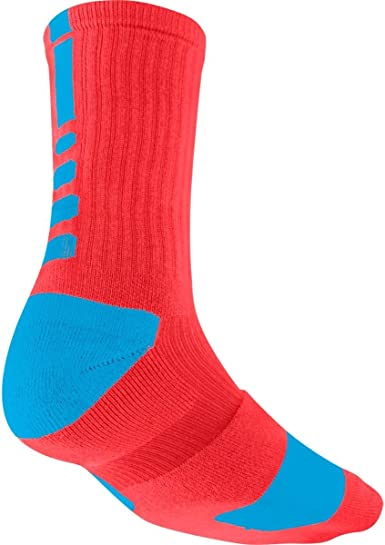 privado Sofocante diferente  Amazon.com : Nike Elite Basketball Crew Sock (LT CRIMSON/VIVID BLUE//VIVID  BLUE, Small) : Clothing