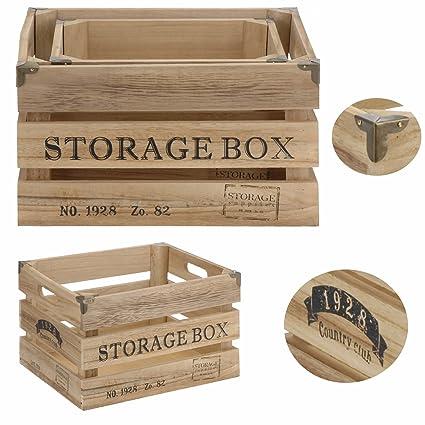 Diseño Madera Cajas de vino madera caja de fruta (Macetero decorativo caja Alt, madera