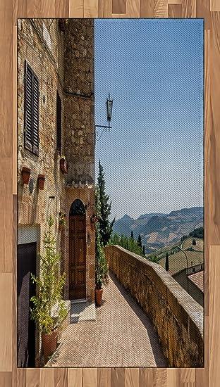 italien Zone Tapis par Lunarable, les murs de Pienza en Toscane ...