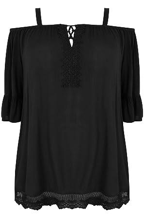 Yours Clothing - Polo - Manga Larga - para mujer negro negro 48 ...