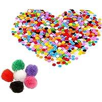 2000 Piezas Pompones de Bola Pom Poms del Craft,Pompones de Colores Mini Pompoms Bola para Bricolaje, Manualidades y…
