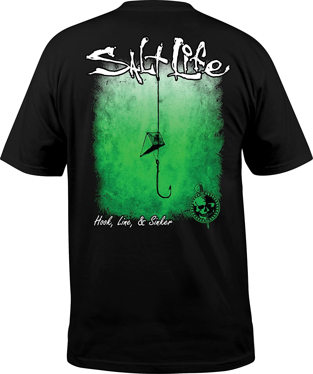 4c44c7fb86bc Amazon.com: Salt Life Men's Hook Line and Sinker Fade T-Shirt: Clothing