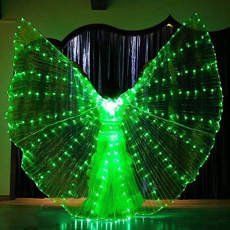 Alas de Baile de luz LED, Danza del Vientre con Alas de ...