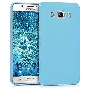 kwmobile Funda para Samsung Galaxy J5 (2016) DUOS - Carcasa para móvil en [TPU Silicona] - Protector [Trasero] en [Azul Claro Mate]