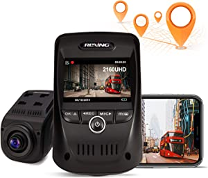 REXING V1 MAX 4K Dash Cam 3840X2160@30fps UHD WiFi GPS Car Dash Camera w/Night Vision, Supercapacitor,170 Degree Wide Angle, Mobile App, Loop Recording, G-Sensor, Parking Monitor, Support up to 256GB