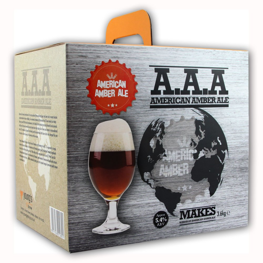 Youngs American Amber Ale AAA Home Brew Beer Kit - Makes 40 Pints!
