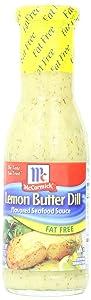 McCormick Golden Dipt Fat Free Lemon Butter Dill Sauce, 8.7 oz (Pack of 6)