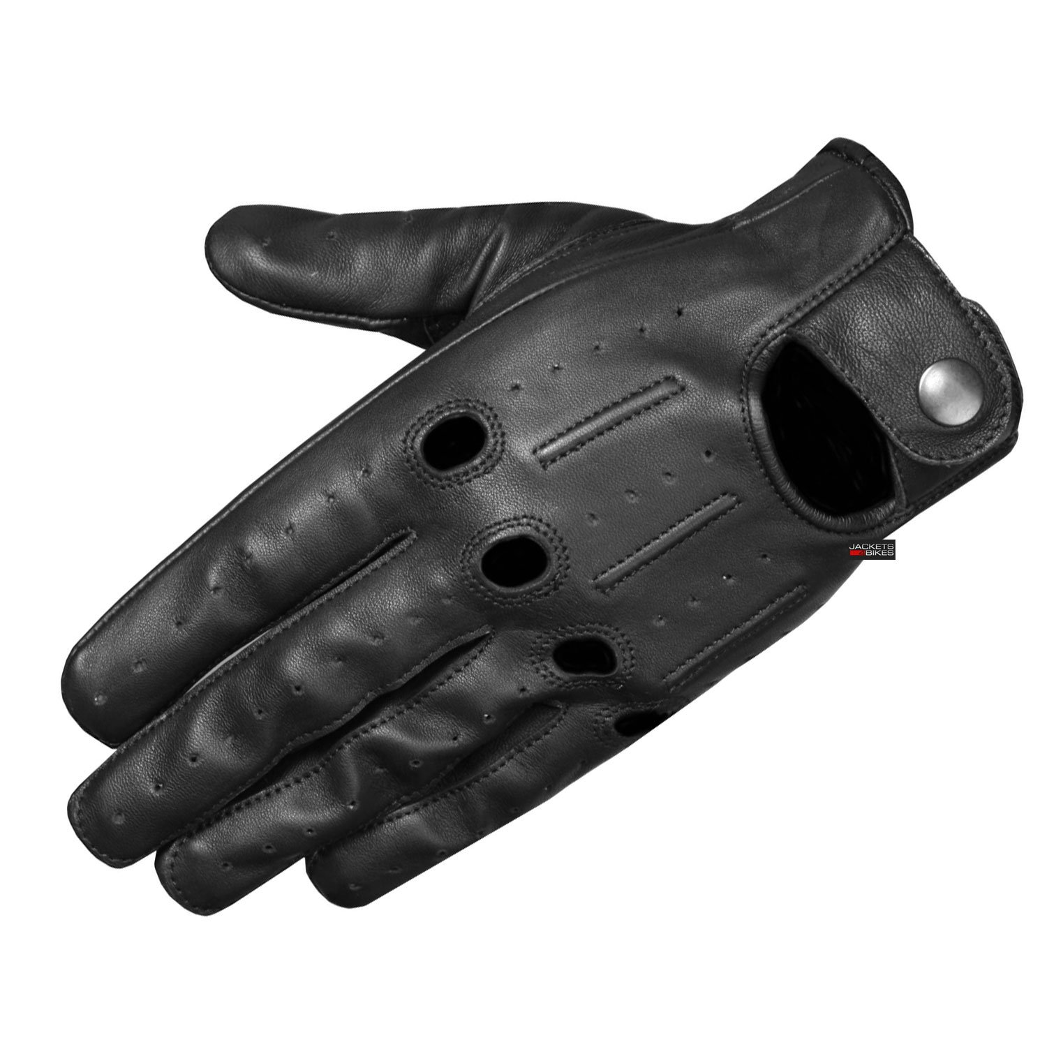 Mens Transporter Genuine Lambskin Aniline Leather Driving Gloves Ventilated L