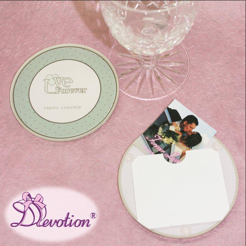 2 Pairs Designer Acrylic Blank Round Photo Coasters C07F-DIA2x2 ...