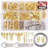 152pcs Picture Hangers Kit Heavy Duty Assorted Picture Hangers with Screws 7 Styles Wall Hanging Hardware with Organizer Case