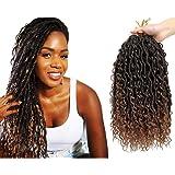 6 Packs New Goddess Locs Crochet Hair 14 Inch Boho Hippie Locs With More Small curls Bohemia Faux Locs(14inch,T1B/30)