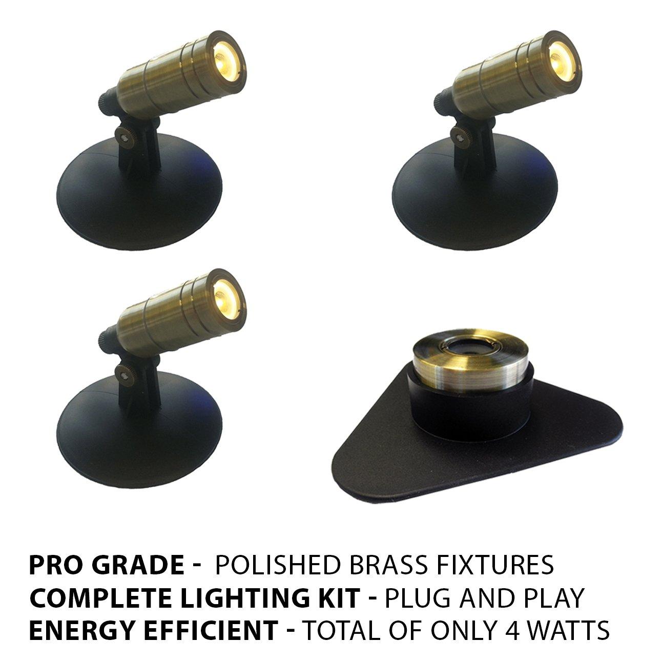 Patriot Brass LED Waterproof Pond and Landscape Lighting 4 Watt Light Kit P-B1 by Patriot