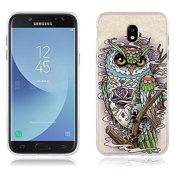 FUBAODA Funda Carcasa para para Samsung J5 2017/J530, Gel de Silicona TPU, Dibujo de Búho, Carcasa Protectora de Goma Samsung J5 2017/J530 (5.2