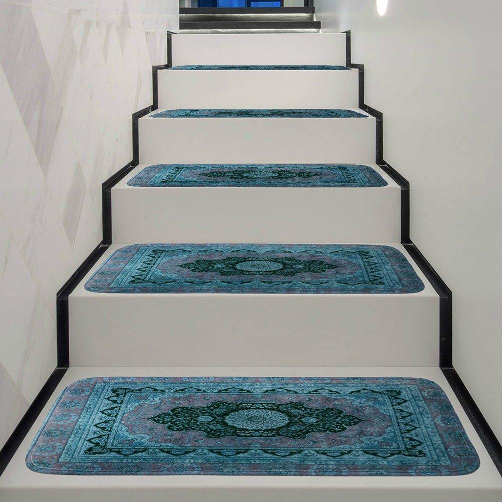 Pattern : Carpet Pattern Josopa Tappetino per Scale 5 Pezzi battistrada per Scale Antiscivolo Tappetino Antiscivolo Tappetino per Moquette