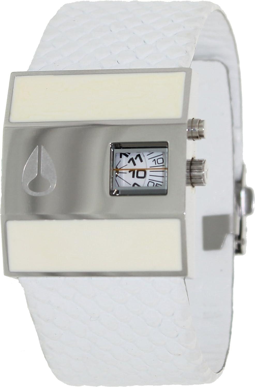 2c6e7e4ad8 Nixon Men s Rotolog Leather A029843 White Leather Quartz Watch with White  Dial  Nixon  Amazon.ca  Watches
