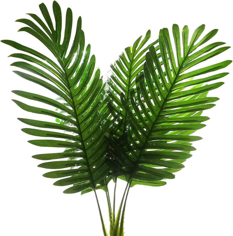 Amazon Com 5 Pack Palm Artificial Plants Leaves Decorations Faux Large Tropical Palm Leaves Imitation Ferns Artificial Plants Leaf For Home Kitchen Party Flowers Arrangement Wedding Decorations Kitchen Dining