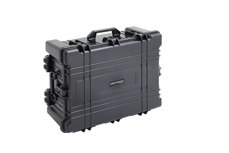 【NEO KEEPR】R-702 ネオキーパー 防塵防水 IP67 ハードケース カメラケース プロテクターツールケース 精密機器の保管や輸送持ち運びに 防水の為アウトドアにも!ミリタリー用品としてのガンケースにもお使いいただけます … B017HRI3F2 ブラック