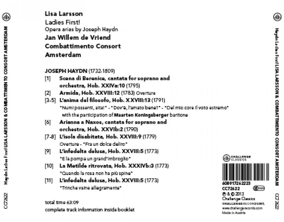 Ladies First Opera Arias By Joseph Haydn