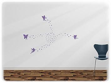 Wandfabrik   100 Elfen In Lavendel   Wandtattoo Geeignet Als Dekoration  Klebefolie Wandbild Wanddeko Tiere Für