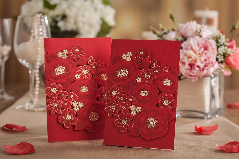 Amazon.com: Wishmade Wedding Invitation Cards 20 Sets Wedding ...