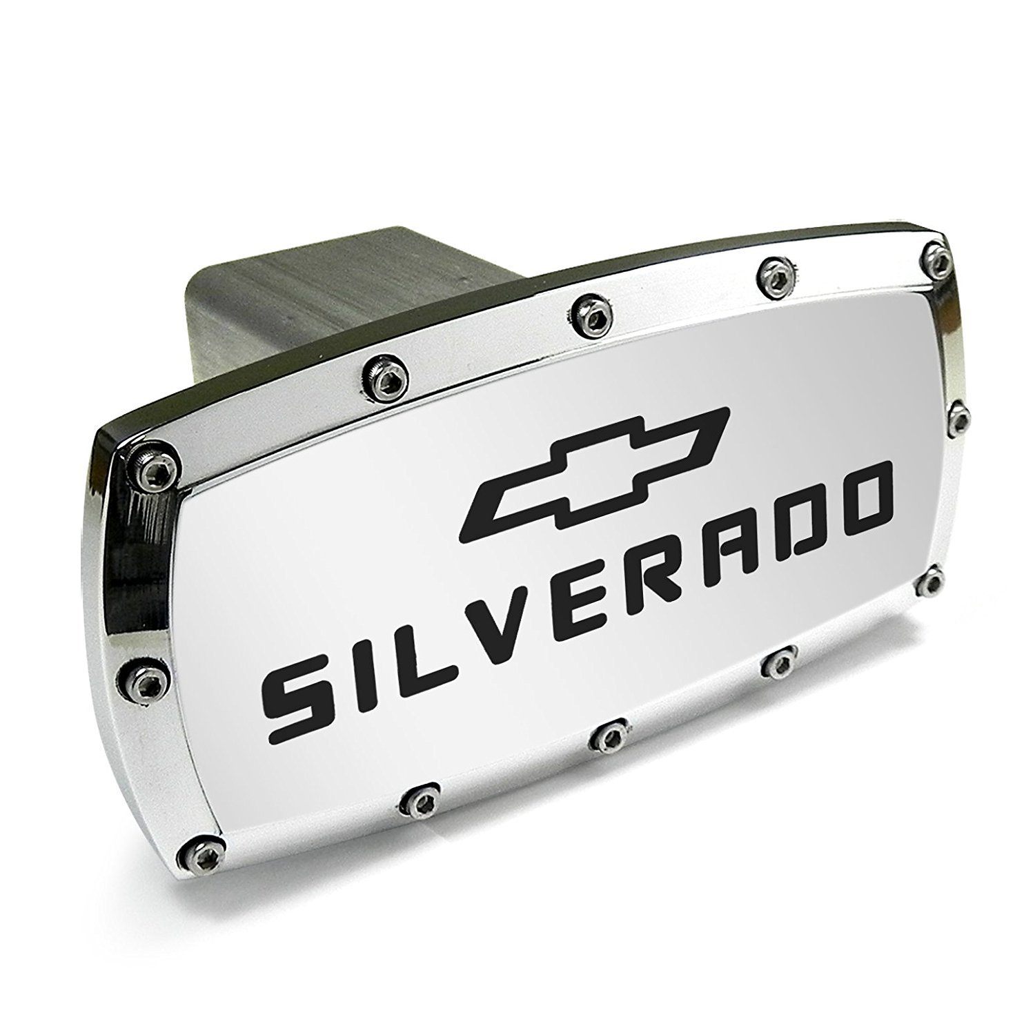 Chevrolet Silverado Billet Aluminum Tow Hitch Cover by CHEVROLET
