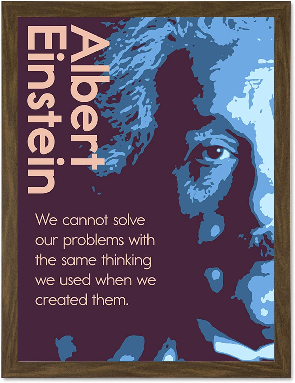 Quote Einstein Same Thinking Typography Large Wall Art Poster Print LF3889