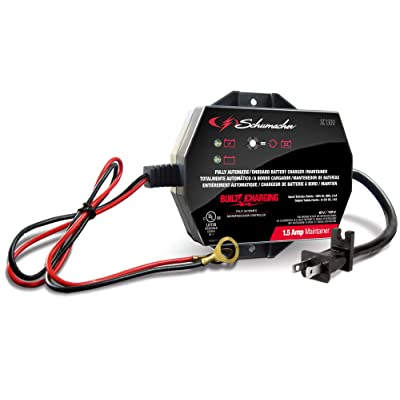 Schumacher SC1300 1.5A 6/12V Fully Automatic Battery Maintainer: Automotive