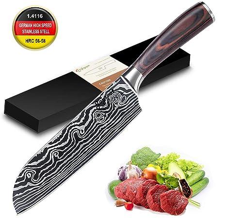 Compra Joyspot Cuchillo de Cocina, Cuchillo japonés Santoku ...