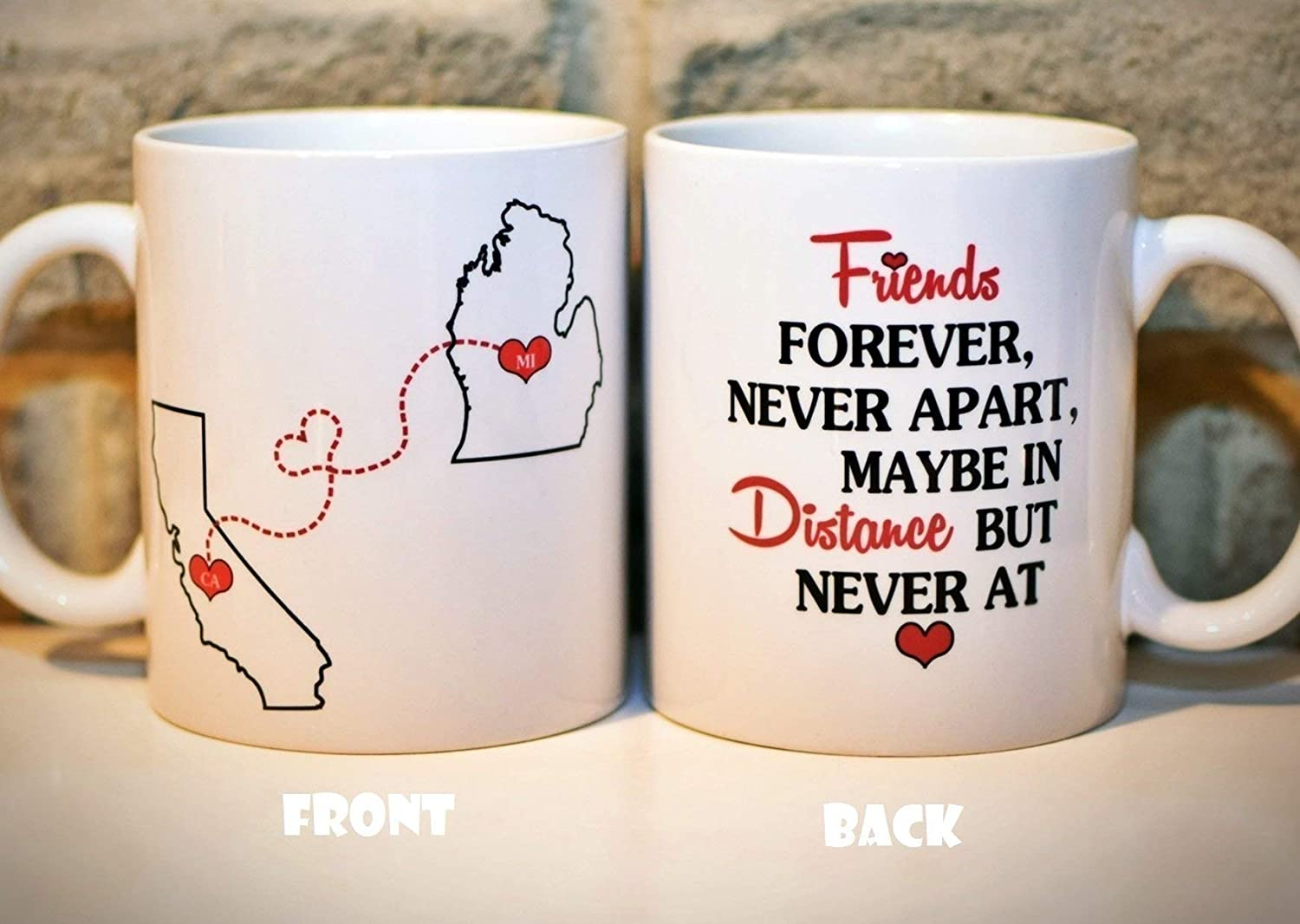 Long Distance Coffee Mug States Mug Bff Coffee Mug Best