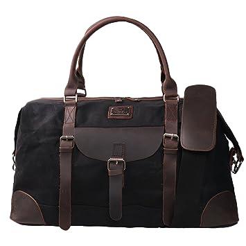c4bb6f82e24 Amazon.com   Canvas Duffel Bag TOPWOLFS 22