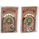 Resin Christmas Elf Workshop Door Skirting Board Tree Decoration Design Varies ~ Brown