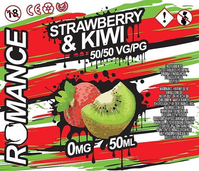 Romance e Liquid Vape Juice 10 fantásticos sabores ricos 50ML 0MG 50/50 PG/VG, sin nicotina (Strawberry & Kiwi): Amazon.es: Salud y cuidado personal