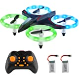 Mini Drone RC Nano Quadcopter for Kids 3D Flip, Headless Mode and Extra Batteries with Glowing LED Lights Toys for Boys and Girls
