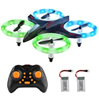 DIZA100 Mini Quadrocopter Drone RC 2.4GHz 6-Axis Remote Controlled Drone One Button Pressure for Starting and Landing Headless Mode Toy Drone for Beginners Children - Drone Without Camera (Weiß)
