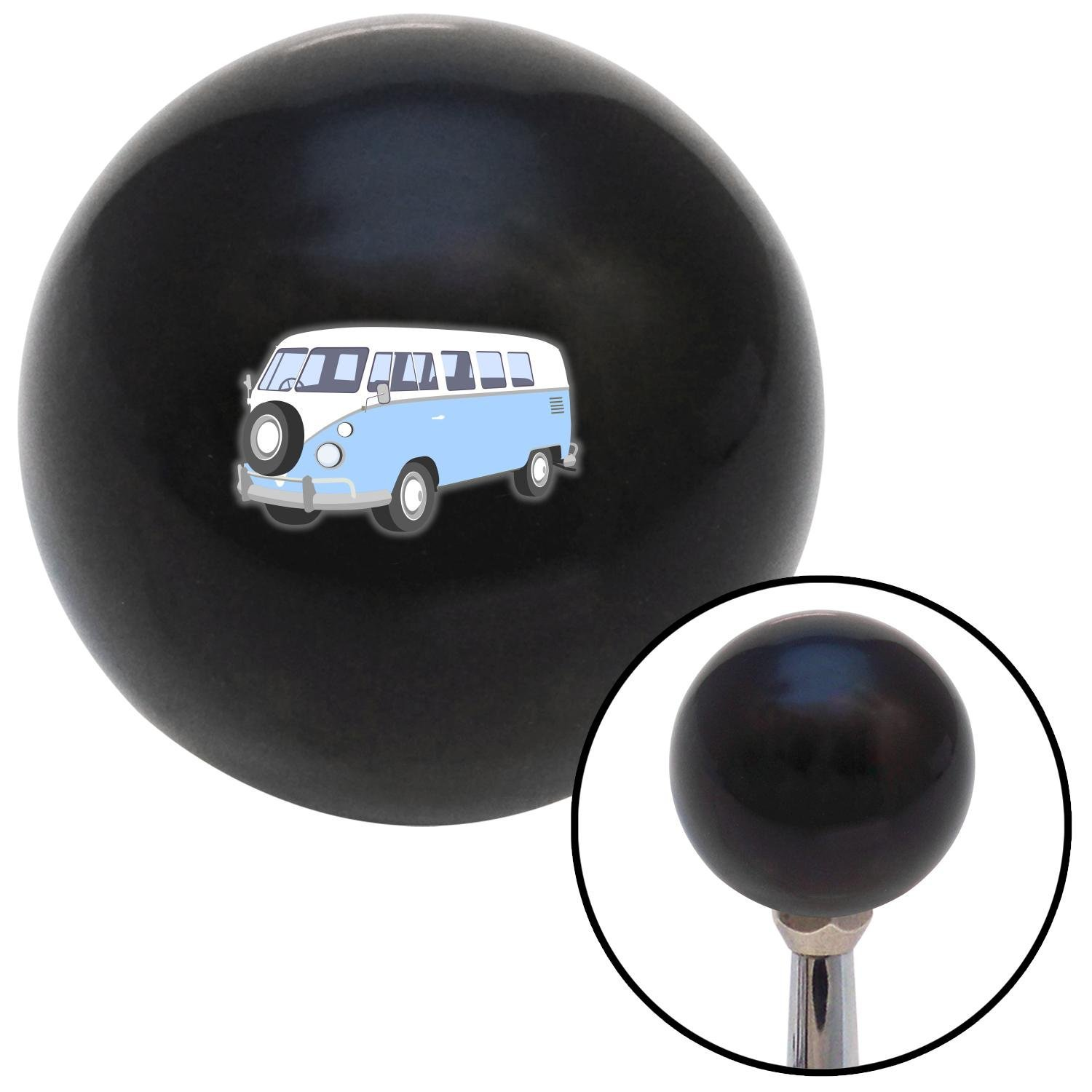 Baby Blue Camper American Shifter 110850 Black Shift Knob with M16 x 1.5 Insert