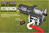 amazon com badland winches 61383 atv utility electric winch with2500 lb electric atv utility winch with wireless remote control