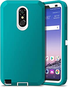 Jelanry Heavy Duty Armor for LG Stylo 4 Case LG Q Stylus Case LG Stylo 4 Plus Case 2-Layer Full Body Protective Shell Shockproof Sports Anti-Scratch Non-Slip Bumper Cover Hybrid Case Aqua Green