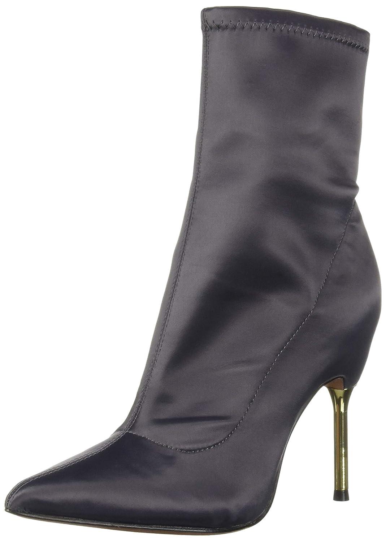 Asphalt Stretch Satin BCBGMAXAZRIA Womens Jolie Bootie Ankle Boot
