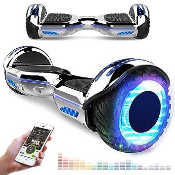 RCB Patinete Eléctrico Scooter de Auto-Equilibrio Luces LED Integradas Bluetooth Regalo para Niños y Adultos