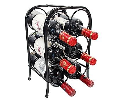 Amazoncom Pag 6 Bottles Free Standing Countertop Metal Wine Rack