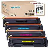Mycartridge Toner Compatibile per HP 203x 203a cf540x-cf543x HP Color Laserjet m254nw m254dw mfp m281fdw m280nw m281fdn (Nero/Ciano/Magenta/Giallo)