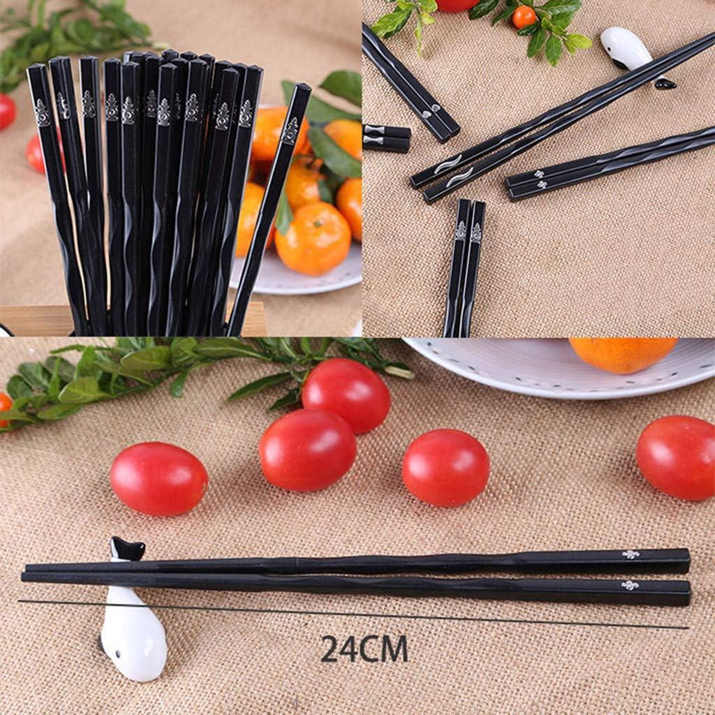 1 par de palillos japoneses YJYdada de aleación, antideslizantes, para sushi, para regalo chino: Amazon.es: Hogar