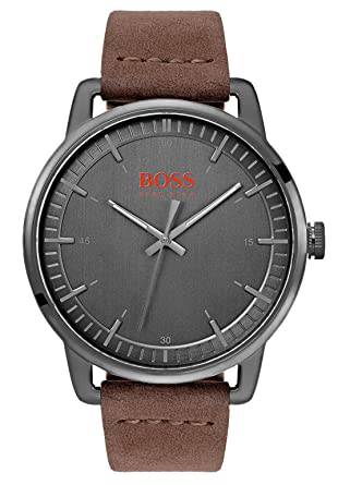Hugo Boss Orange Reloj Analógico para Hombre de Cuarzo con Correa en Cuero 1550074: Amazon.es: Relojes