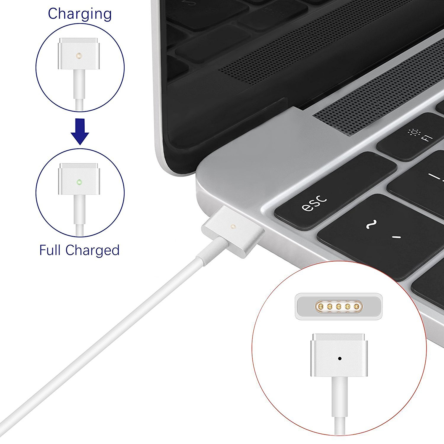 MacBook Pro Charger R60-T,MacBook Air Charger Replacement 60W Magsafe 2 Magnetic T-Tip Power Adapter Charger for Apple MacBook Retina-After Late 2012 by SODYSNAY (Image #5)