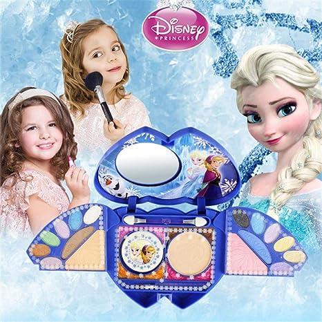 Niulyled - Juego de 25 cosméticos para la serie Princess de Disney Frozen con espejo, lavable y no tóxico, con estuche: Amazon.es: Bebé