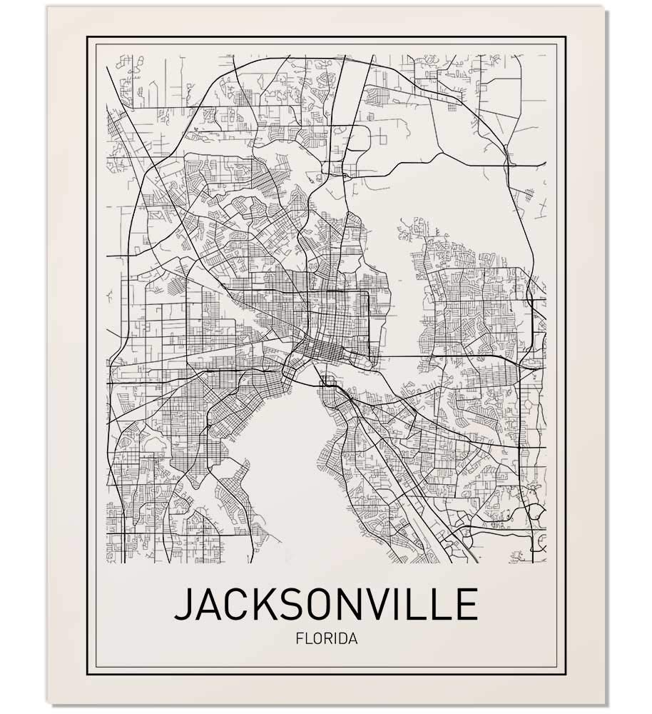 photo about Printable Map of Jacksonville Fl referred to as Jacksonville Poster, Jacksonville Map, Metropolis Map Posters, Map of Jacksonville, Florida Map Print, Florida Poster, Black and White Prints, Minimalist
