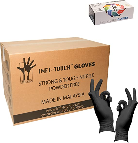 Heavy Duty Nitrile Gloves, Infi-Touch Strong & Tough, High Chemical Resistant 1000 Gloves