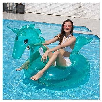 WYJHNL Flotador Unicornio Juguetes Hinchables con Brillos ...