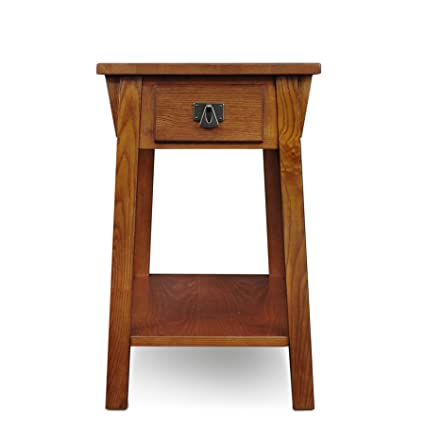 Amazoncom Leick Mission Chairside Small End Table Russet