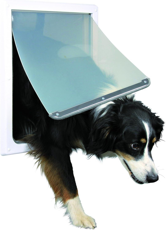 TRIXIE Puerta Perros 2 Posiciones, M-XL, Blanco: Amazon.es: Productos para mascotas